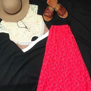 LuLaRoe Lucy lace maxi skirt size XS